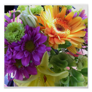 July Flowers Print