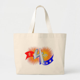 July forth Bursts Tote Bags