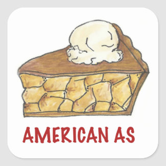 July Fourth 4th American As Apple Pie USA Stickers