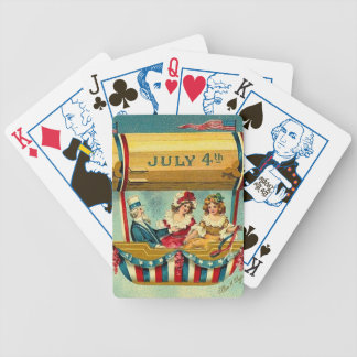 July Fourth Vintage Bicycle Playing Cards