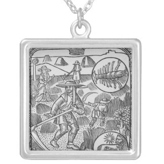 July, haymaking, Cancer Silver Plated Necklace