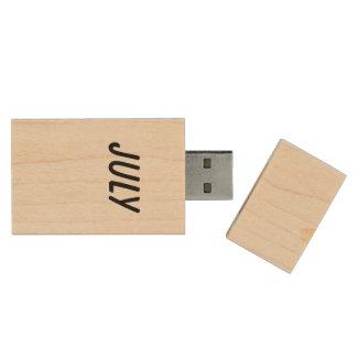 july wood USB 2.0 flash drive