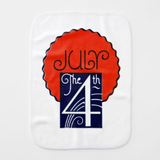 July the 4th mod retro patriotic Independence Day Burp Cloths