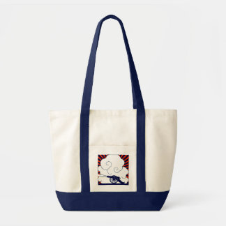 July the 4th vintage cannon artillery patriotic impulse tote bag