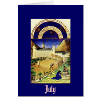 July the Tres Riches Heures du Duc de Berry Greeting Card