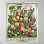 July, 'Twelve Months of Fruits' Poster
