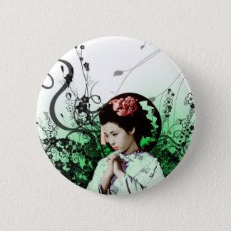 Julzips - Geisha 6 Cm Round Badge