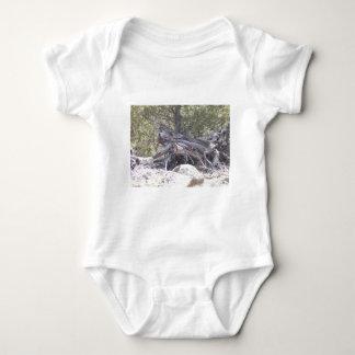 Jumble of Aging Wood Baby Bodysuit
