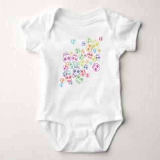Jumble of Sugar Skulls Baby Bodysuit