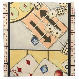 Jumbled Assortment of Games of Chance Napkin