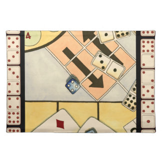 Jumbled Assortment of Games of Chance Placemats