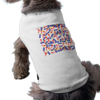 Jumbled Firecrackers for the 4th of July Doggie Tee Shirt
