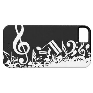 Jumbled Musical Notes iPhone 5 Cover