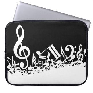 Jumbled Musical Notes Laptop Computer Sleeve