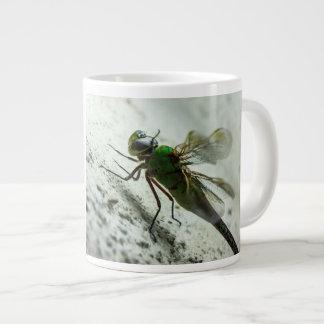 Jumbo 20 oz Coffee Mug Green Dragonfly Extra Large Mug