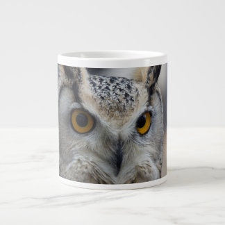 Jumbo 20 oz Coffee Mug Siberian Eagle Owl 20 Oz Large Ceramic Coffee Mug