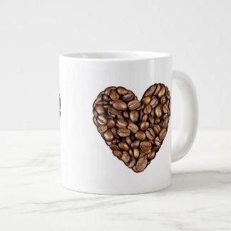 Jumbo 20 oz. Mug - Coffee Bean Hearts 2 Jumbo Mug