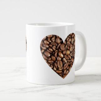 Jumbo 20 oz. Mug - Coffee Bean Hearts Jumbo Mug