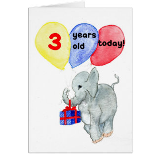 'Jumbo' 3rd Birthday Card