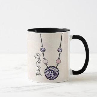 Jumbo Bead Necklace Multicolor   12 Mug