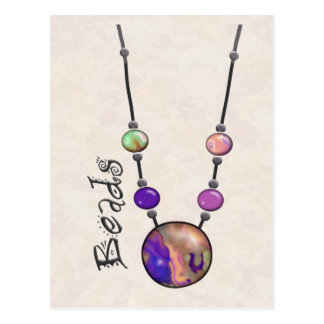 Jumbo Bead Necklace Multicolor   13 Postcard