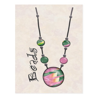 Jumbo Bead Necklace Multicolor    17 Postcard
