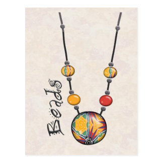 Jumbo Bead Necklace Multicolor    7 Postcard