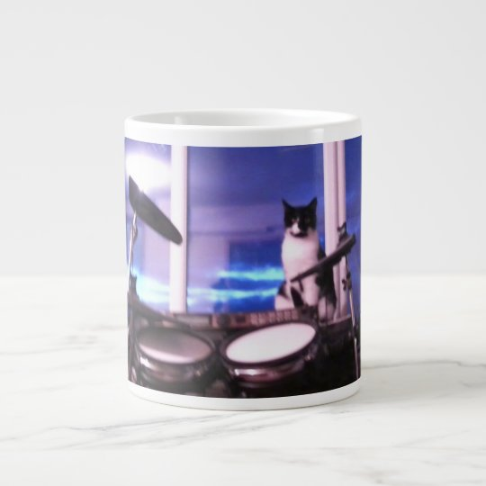 Jumbo Blues Drummer Cat Mug