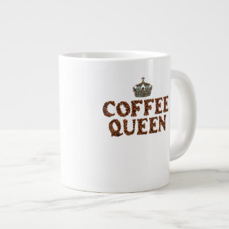"JUMBO COFFEE MUG - ""Coffee Queen"" with crown 20 Oz Jumbo Mug"