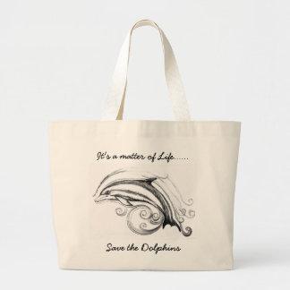 Jumbo Dolphin Tote bag