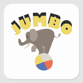 Jumbo Elephant Square Sticker