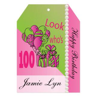 Jumbo Gift Tag-Look Who's 100 13 Cm X 18 Cm Invitation Card