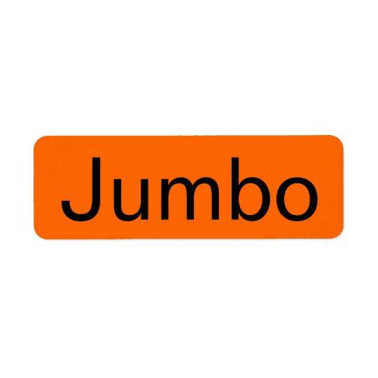 Jumbo Grocery Orange Tag Return Address Label
