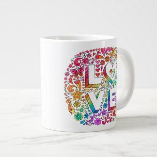 JUMBO Groovy Psychedelic LOVE Doodles Mug ♥