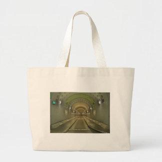 Jumbo jet shopping bag Hamburg of old Elbe tunnels