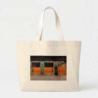 Jumbo jet shopping bag of old Elbe tunnels