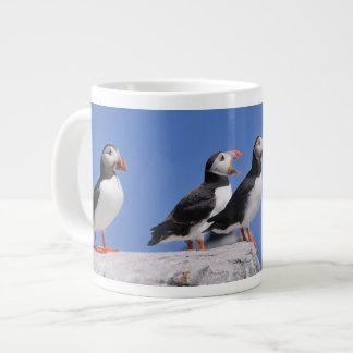 Jumbo large Puffins Mug