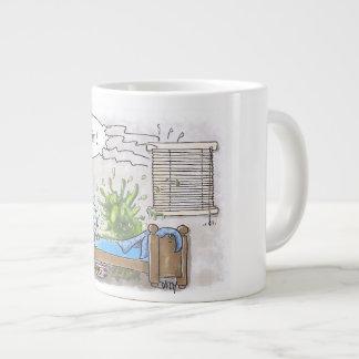 Jumbo mug for a big breakfast extra large mug