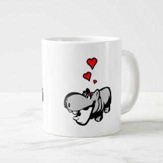 Jumbo Mug - Hippo in Love - Nilpferd