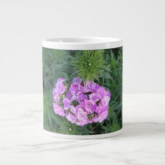 Jumbo Mug or Soup Bowl with Pink Flowers