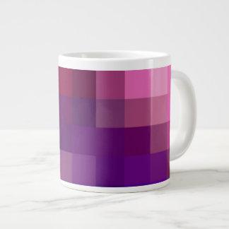Jumbo Mug, Pink, Blue, Purple Abstract Pattern 20 Oz Large Ceramic Coffee Mug