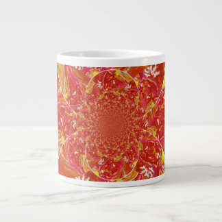 Jumbo Mug Red Squazzle Kaleidoscope Art Design