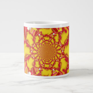 Jumbo Mug Red/Yellow Squazzle2 Kaleidoscope Design
