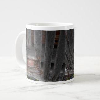 Jumbo Mug with old barn and brick