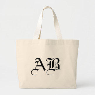 Jumbo Natural Tote Monogram Template