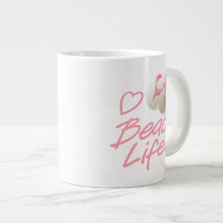 Jumbo Pink Flip Flops Beach Life souvenir mug Jumbo Mug
