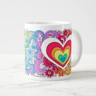 JUMBO Psychedelic Groovy Peace Sign & Love Mug ♥