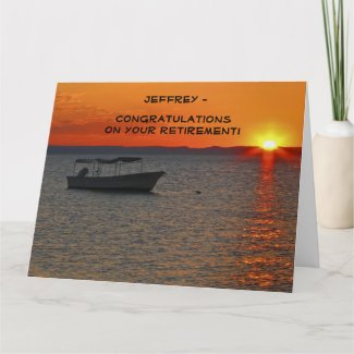 JUMBO Retirement Congratulations from All, Fishing Card