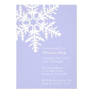 Jumbo Snowflake Christmas Party Invitation Purple