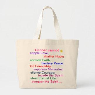 Jumbo Tote Bag - Cancer cannot....